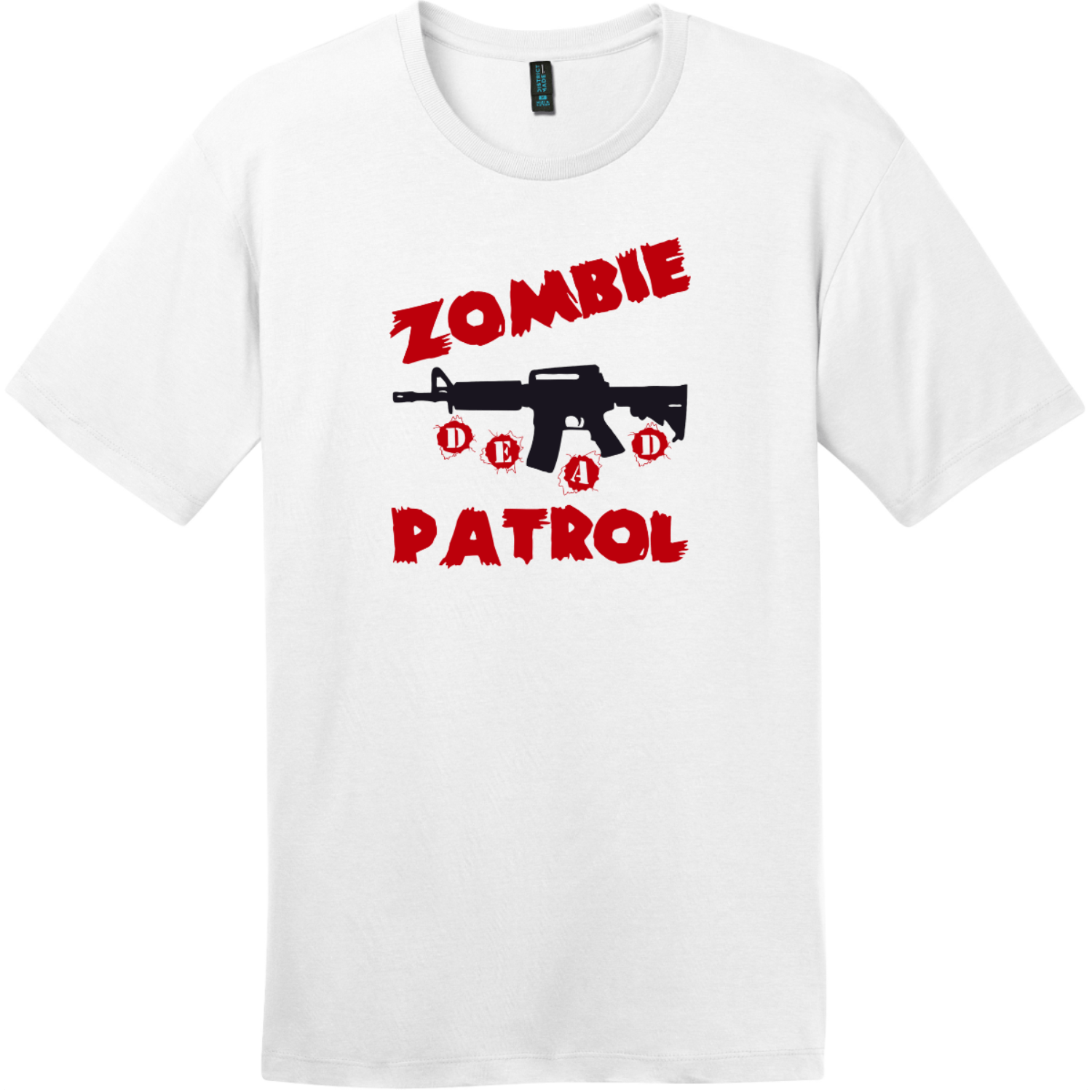 Zombie Patrol T-Shirt Bright White District Perfect Weight Tee DT104