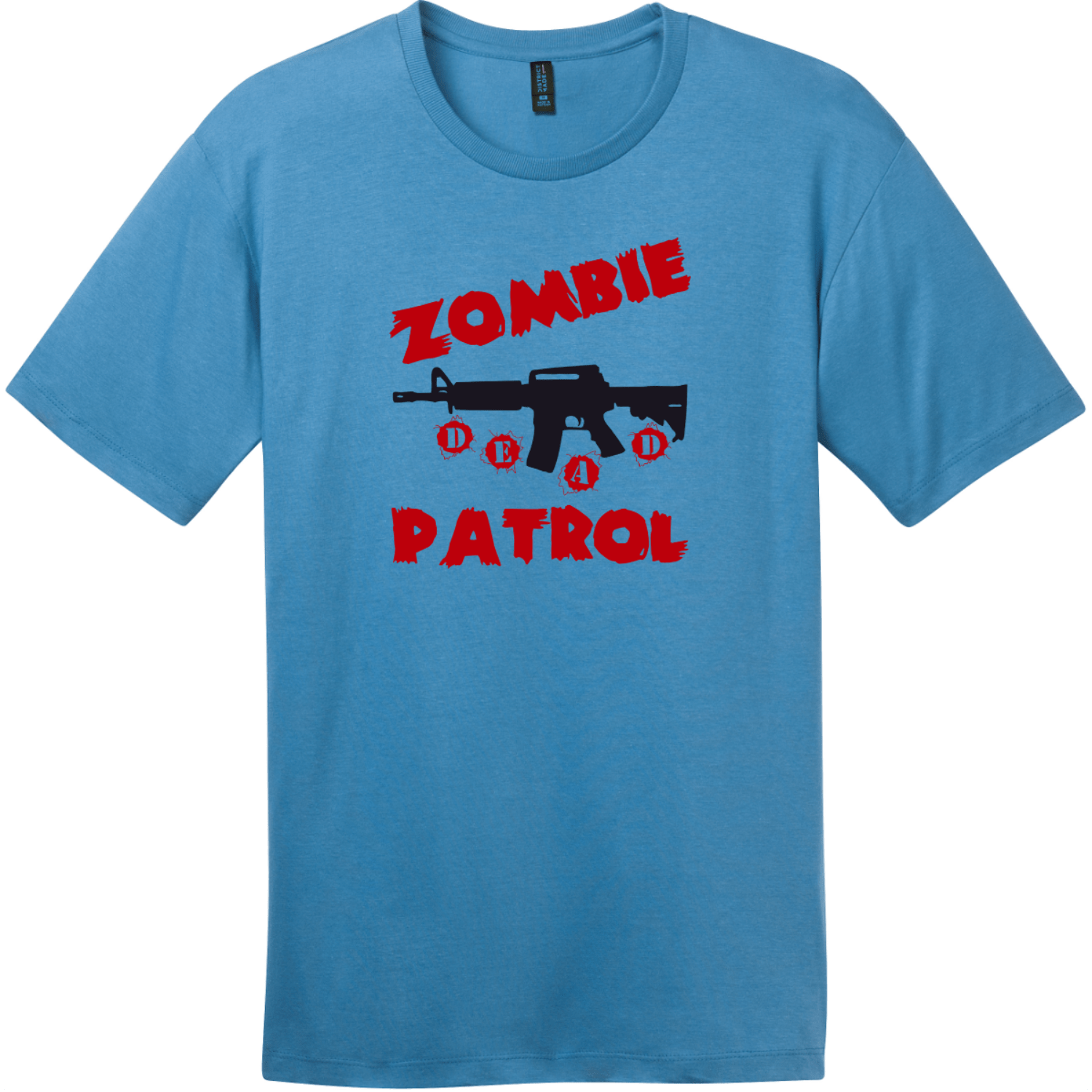 Zombie Patrol T-Shirt Clean Denim District Perfect Weight Tee DT104