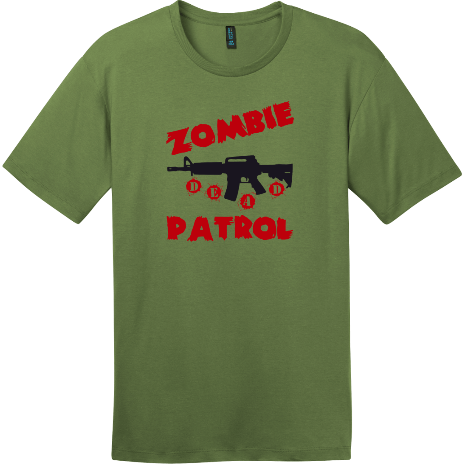Zombie Patrol T-Shirt Fresh Fatigue District Perfect Weight Tee DT104