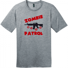 Zombie Patrol T-Shirt Heathered Steel District Perfect Weight Tee DT104