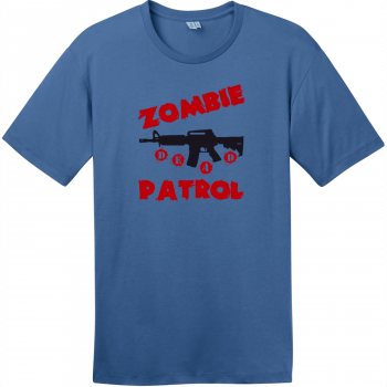 Zombie Patrol T-Shirt Maritime Blue District Perfect Weight Tee DT104