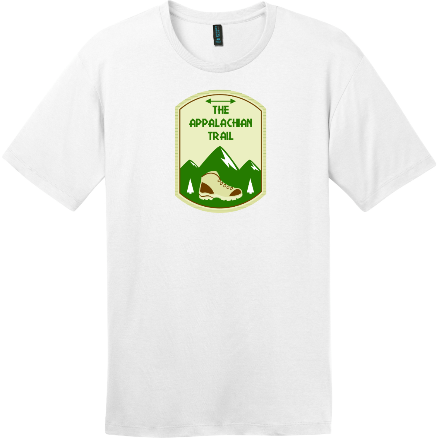 Appalachian Trail Mountain T-Shirt Bright White District Perfect Weight Tee DT104