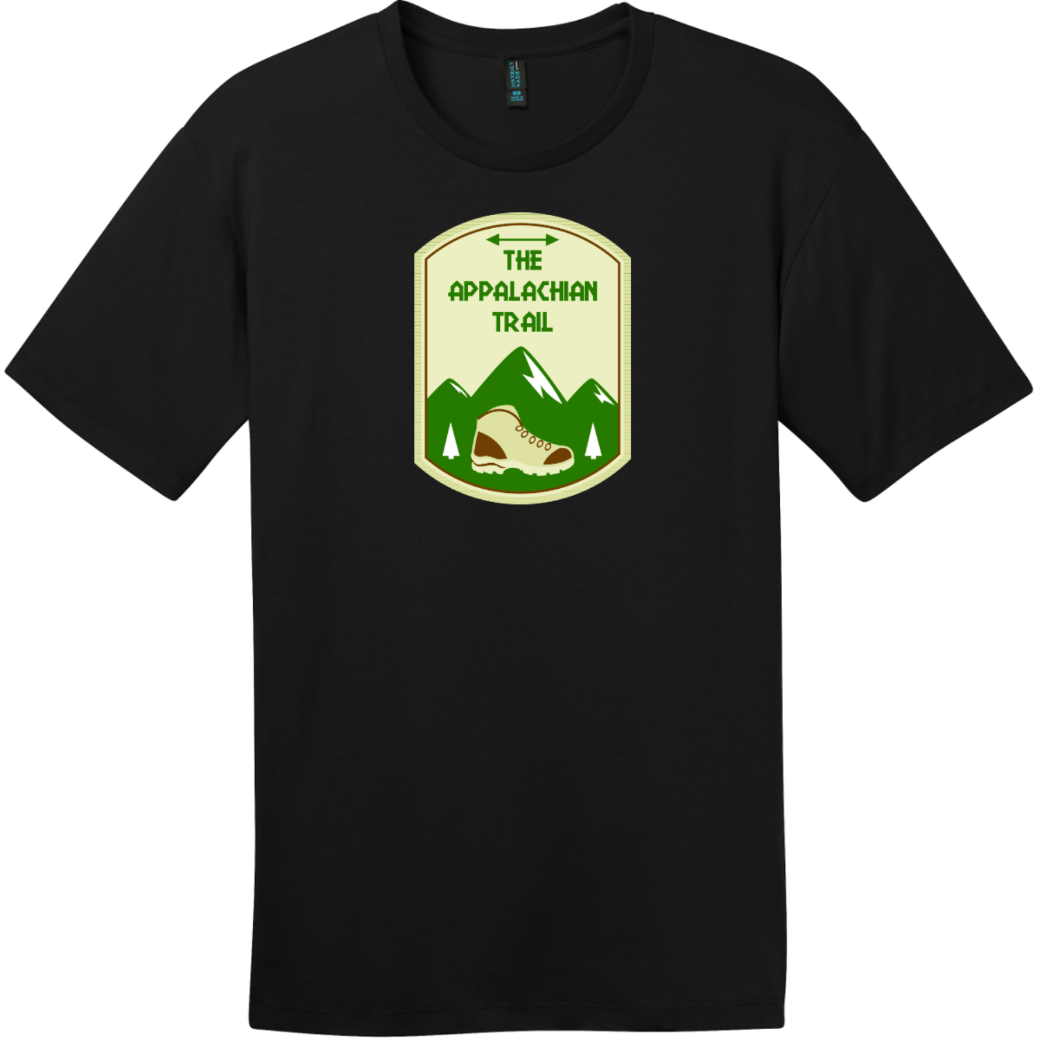 Appalachian Trail Mountain T-Shirt Jet Black District Perfect Weight Tee DT104