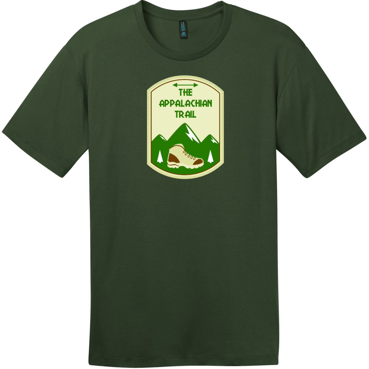 Appalachian Trail Mountain T-Shirt Thyme Green District Perfect Weight Tee DT104