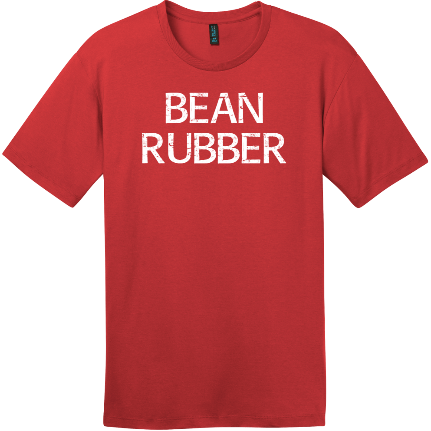 Bean Rubber T-Shirt Classic Red District Perfect Weight Tee DT104