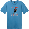 Blood Donor Rugby Union T-Shirt Clean Denim District Perfect Weight Tee DT104