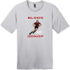 Blood Donor Rugby Union T-Shirt Silver District Perfect Weight Tee DT104
