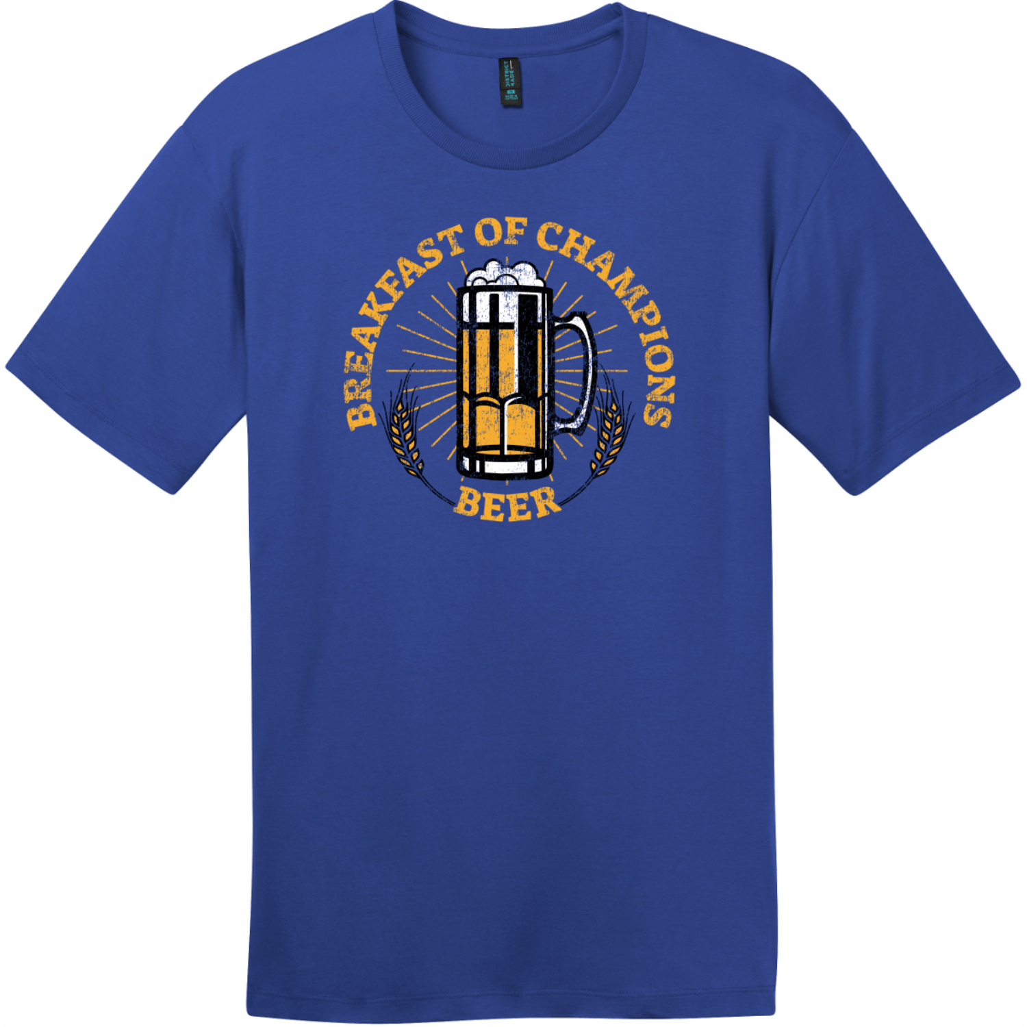Breakfast Of Champions Beer T-Shirt Deep Royal District Perfect Weight Tee DT104