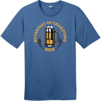 Breakfast Of Champions Beer T-Shirt Maritime Blue District Perfect Weight Tee DT104