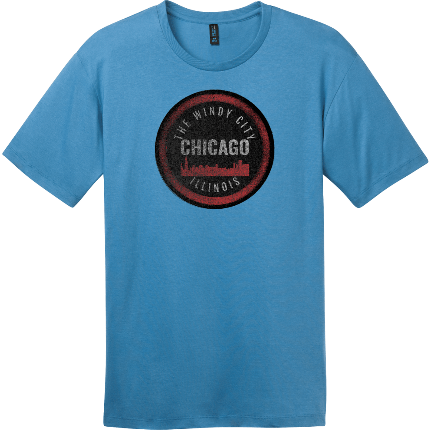 Chicago Illinois The Windy City T-Shirt Clean Denim District Perfect Weight Tee DT104