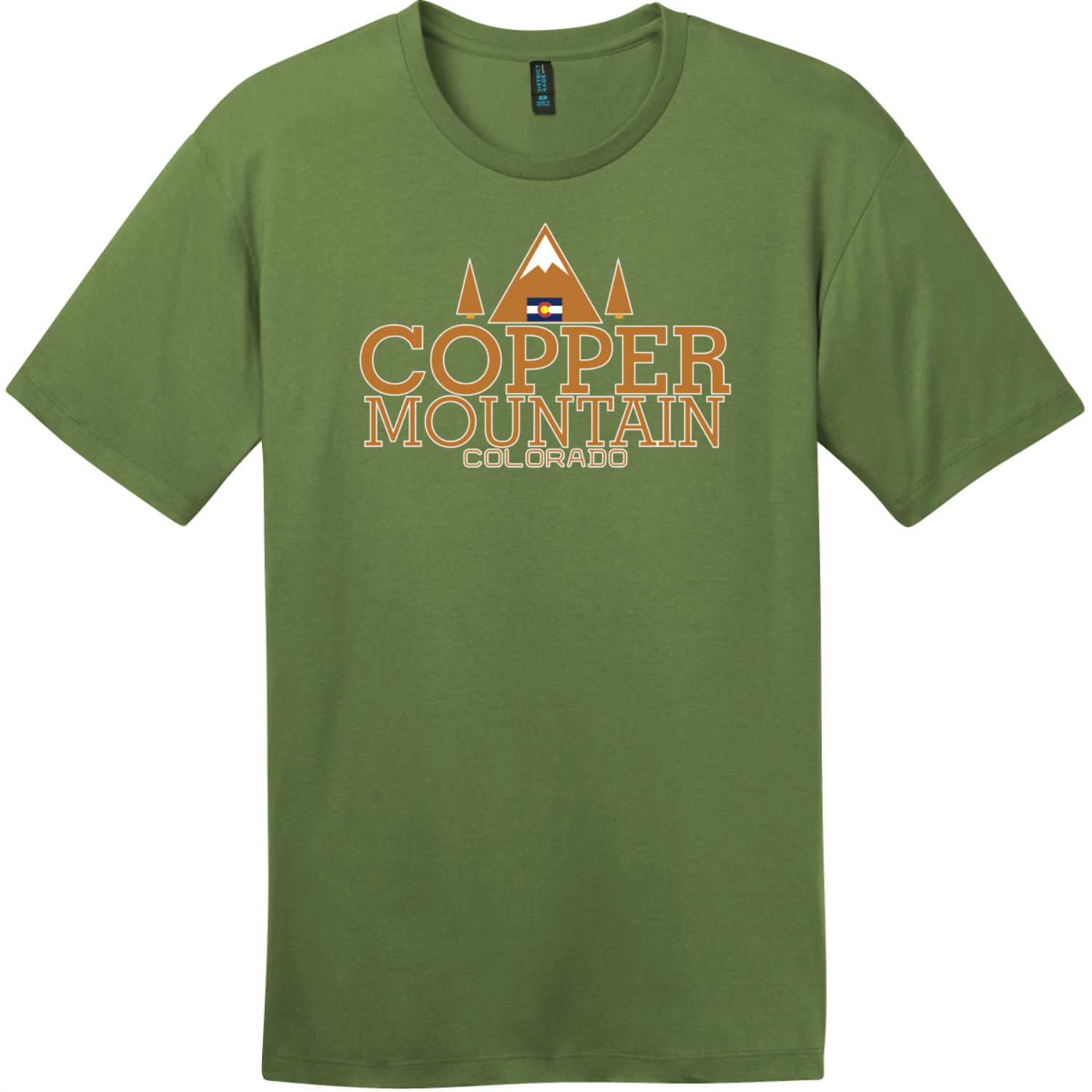 Copper Mountain Colorado T-Shirt Fresh Fatigue District Perfect Weight Tee DT104
