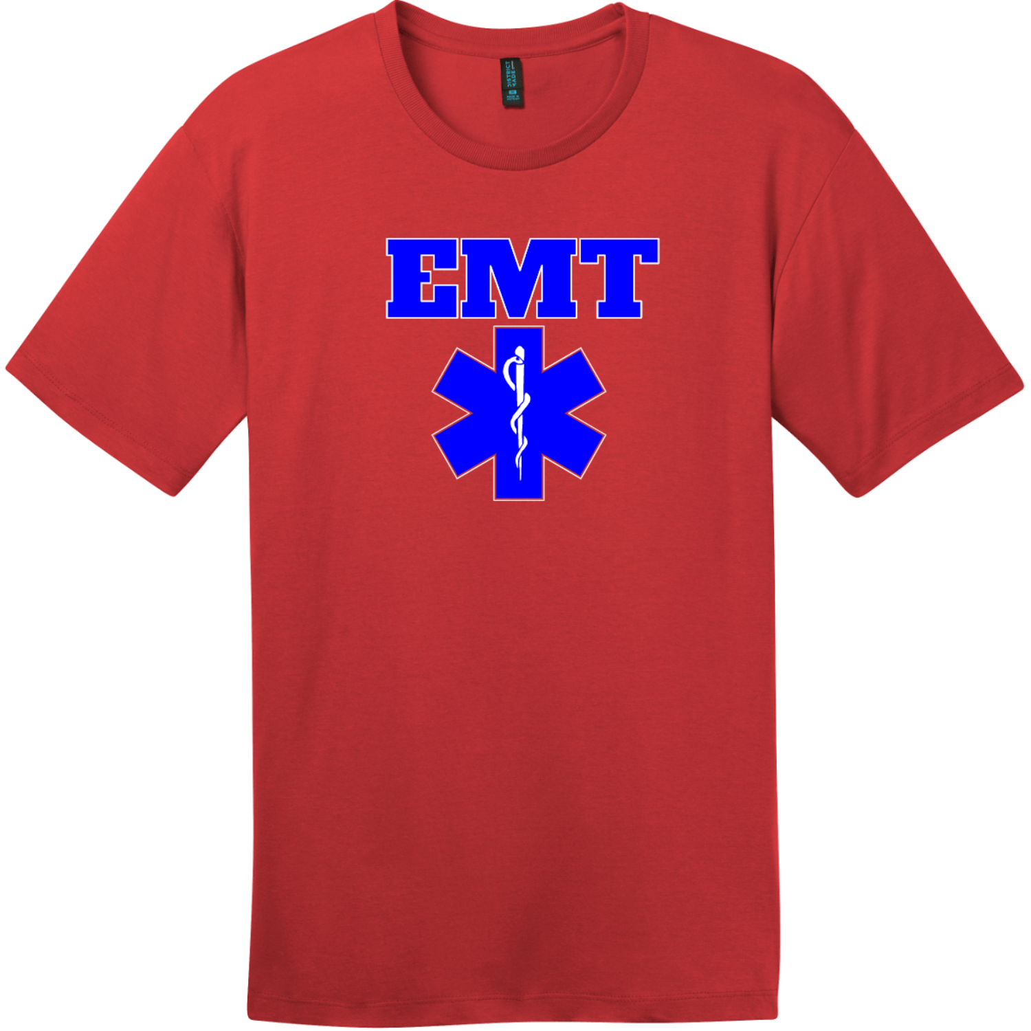 EMT Emergency Medical Technician T-Shirt Classic Red District Perfect Weight Tee DT104