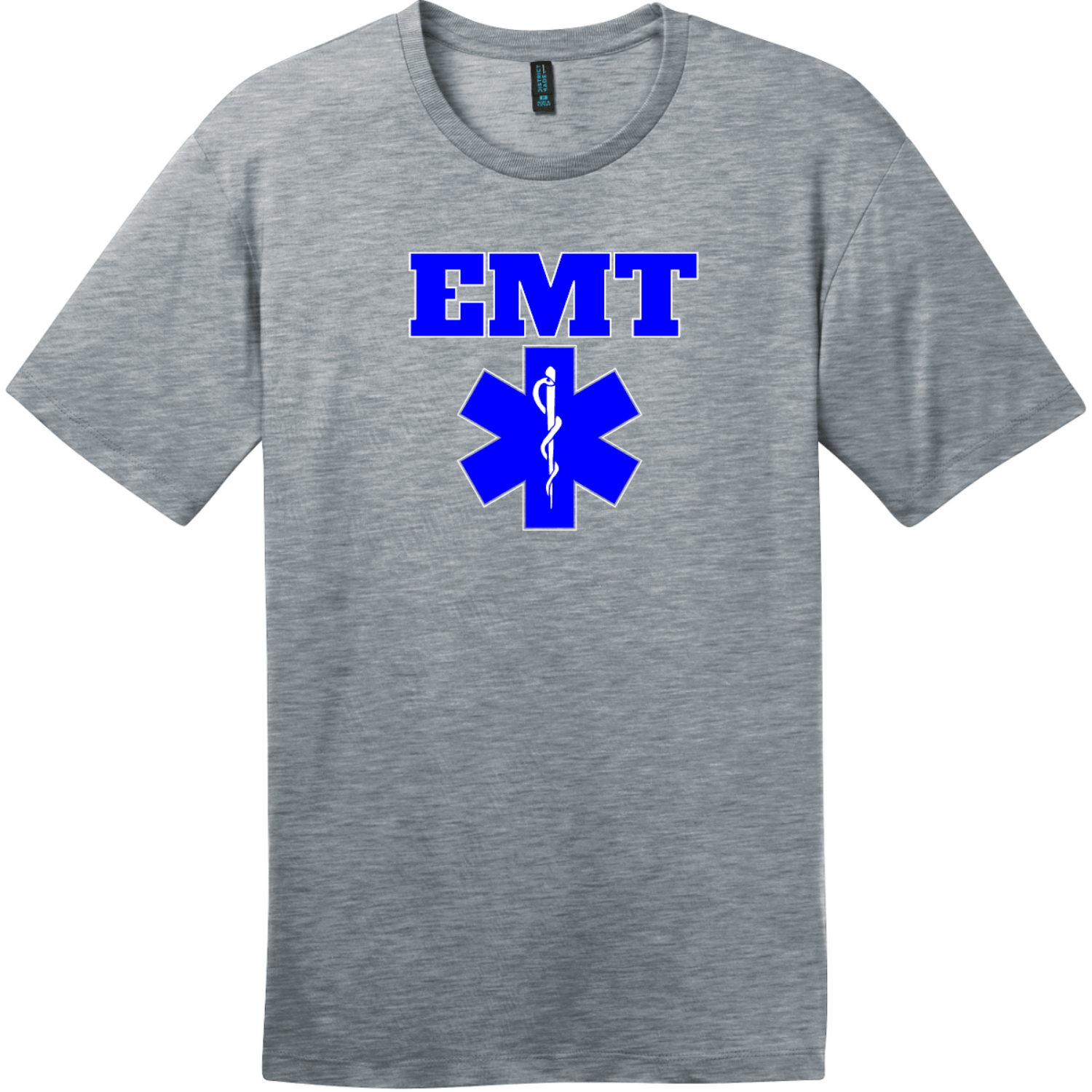 EMT Emergency Medical Technician T-Shirt Heathered Steel District Perfect Weight Tee DT104