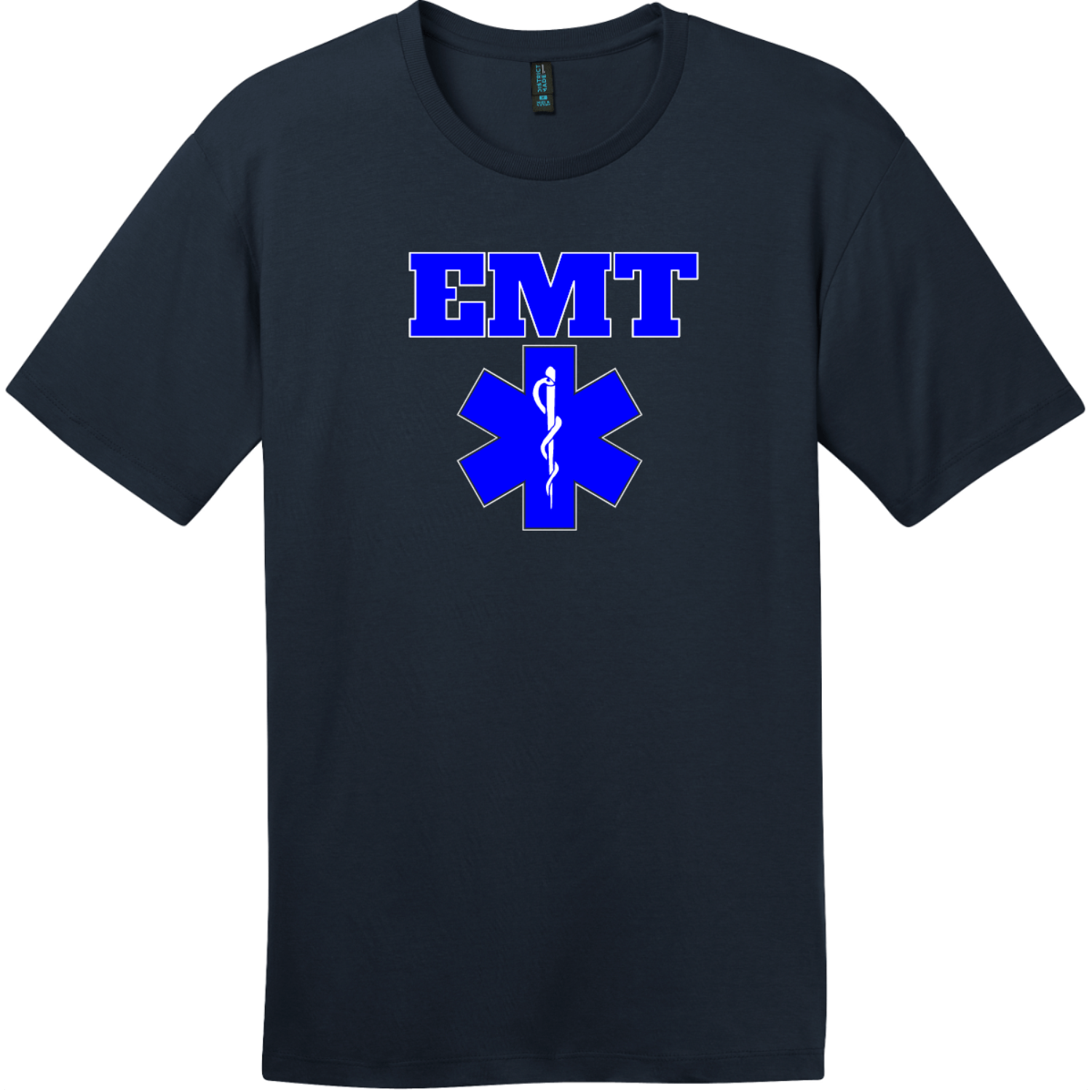 EMT Emergency Medical Technician T-Shirt New Navy District Perfect Weight Tee DT104
