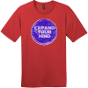 Expand Your Mind Psychedelic T-Shirt Classic Red District Perfect Weight Tee DT104