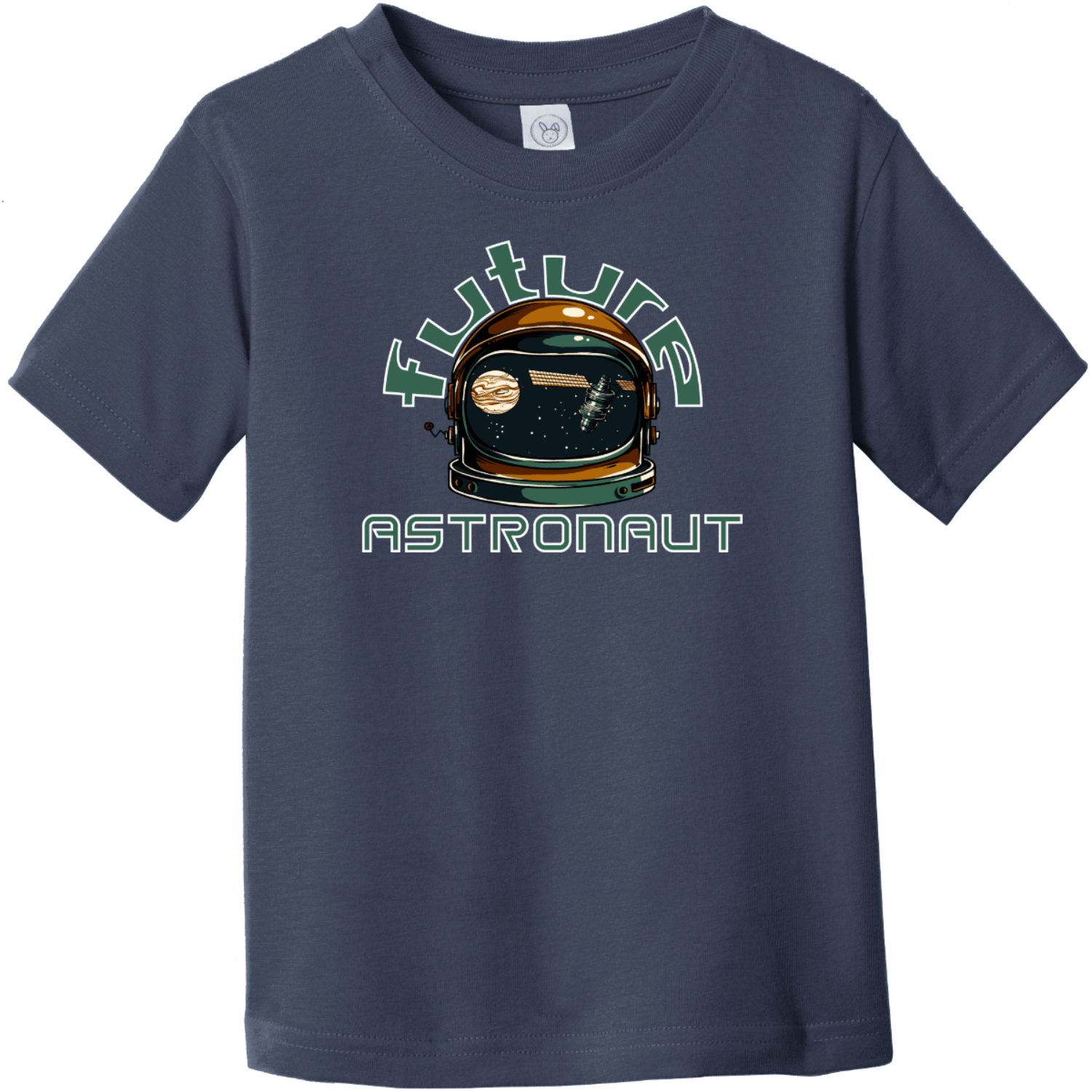 Future Astronaut Toddler T-Shirt Navy Rabbit Skins Toddler Fine Jersey Tee RS3321