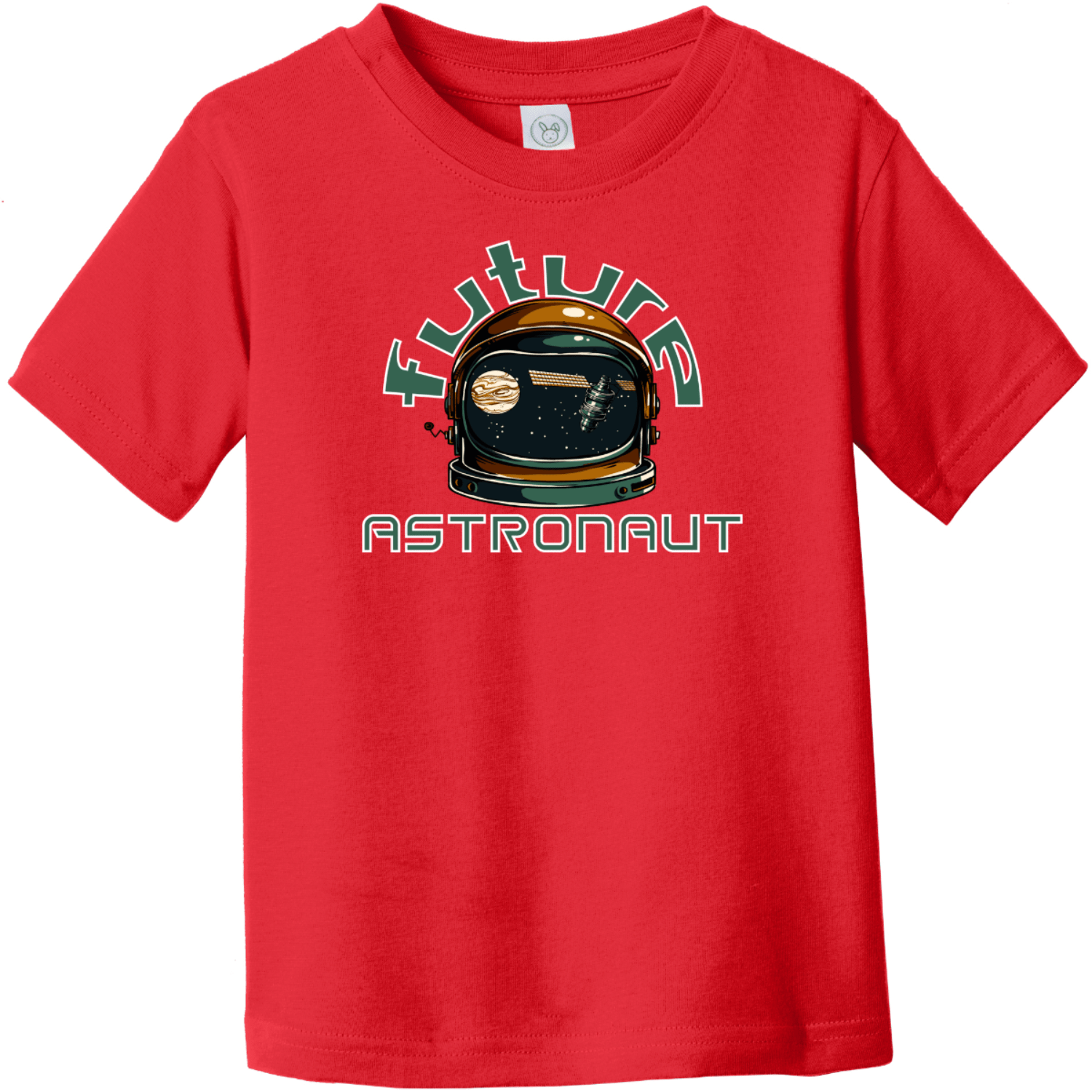 Future Astronaut Toddler T-Shirt Red Rabbit Skins Toddler Fine Jersey Tee RS3321
