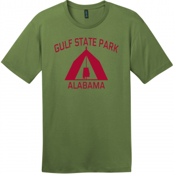 Gulf State Park Alabama Camping T-Shirt Fresh Fatigue District Perfect Weight Tee DT104