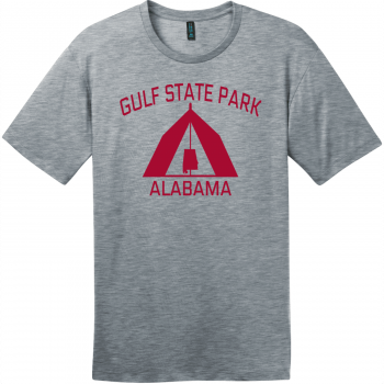Gulf State Park Alabama Camping T-Shirt Heathered Steel District Perfect Weight Tee DT104