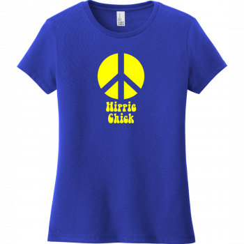 Hippie Chick Peace T-Shirt Deep Royal District Women's Very Important Tee DT6002