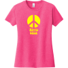 Hippie Chick Peace T-Shirt Fuchsia Frost District Women's Very Important Tee DT6002