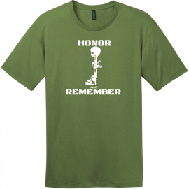 Honor And Remember Military T-Shirt Fresh Fatigue District Perfect Weight Tee DT104