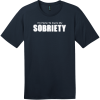 I Am Here To Cure My Sobriety T-Shirt New Navy District Perfect Weight Tee DT104