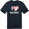 I Love My Soldier Pink Camo Heart T-Shirt New Navy District Perfect Weight Tee DT104