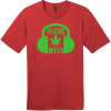 Music And Weed Headphone T-Shirt Classic Red District Perfect Weight Tee DT104