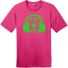 Music And Weed Headphone T-Shirt Dark Fuchsia District Perfect Weight Tee DT104