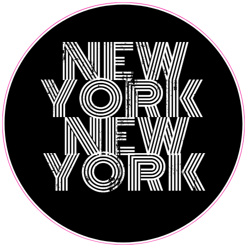 New York New York Faded Circle Sticker | U.S. Custom Stickers