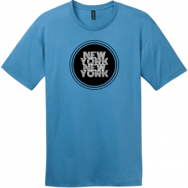 New York New York Retro Circle T-Shirt Clean Denim District Perfect Weight Tee DT104