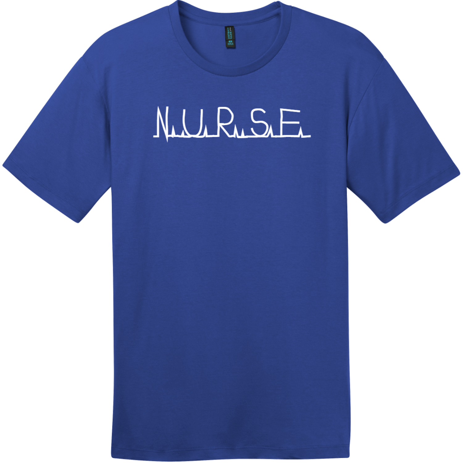 Nurse Heartbeat Monitor T-Shirt Deep Royal District Perfect Weight Tee DT104