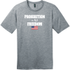 Prohibition Is Not Freedom T-Shirt Heathered Steel District Perfect Weight Tee DT104