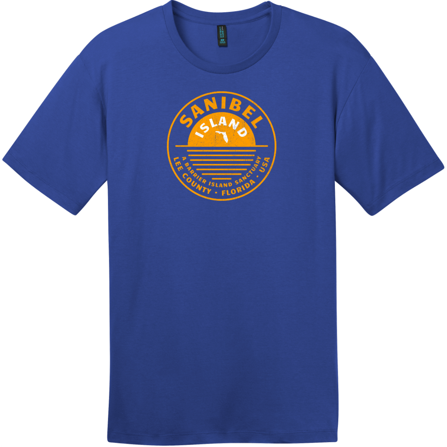 Sanibel Island T-Shirt Deep Royal District Perfect Weight Tee DT104