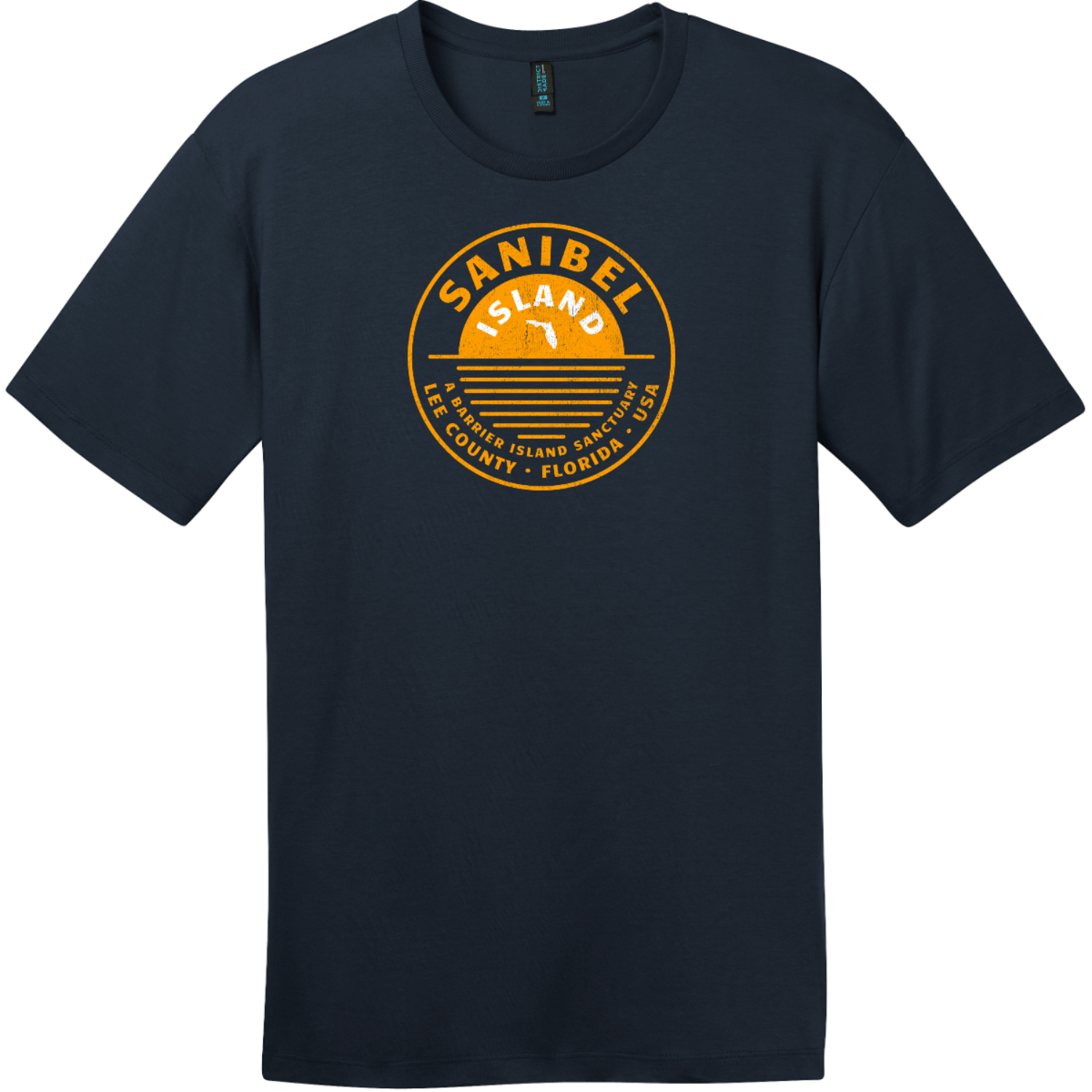 Sanibel Island T-Shirt New Navy District Perfect Weight Tee DT104