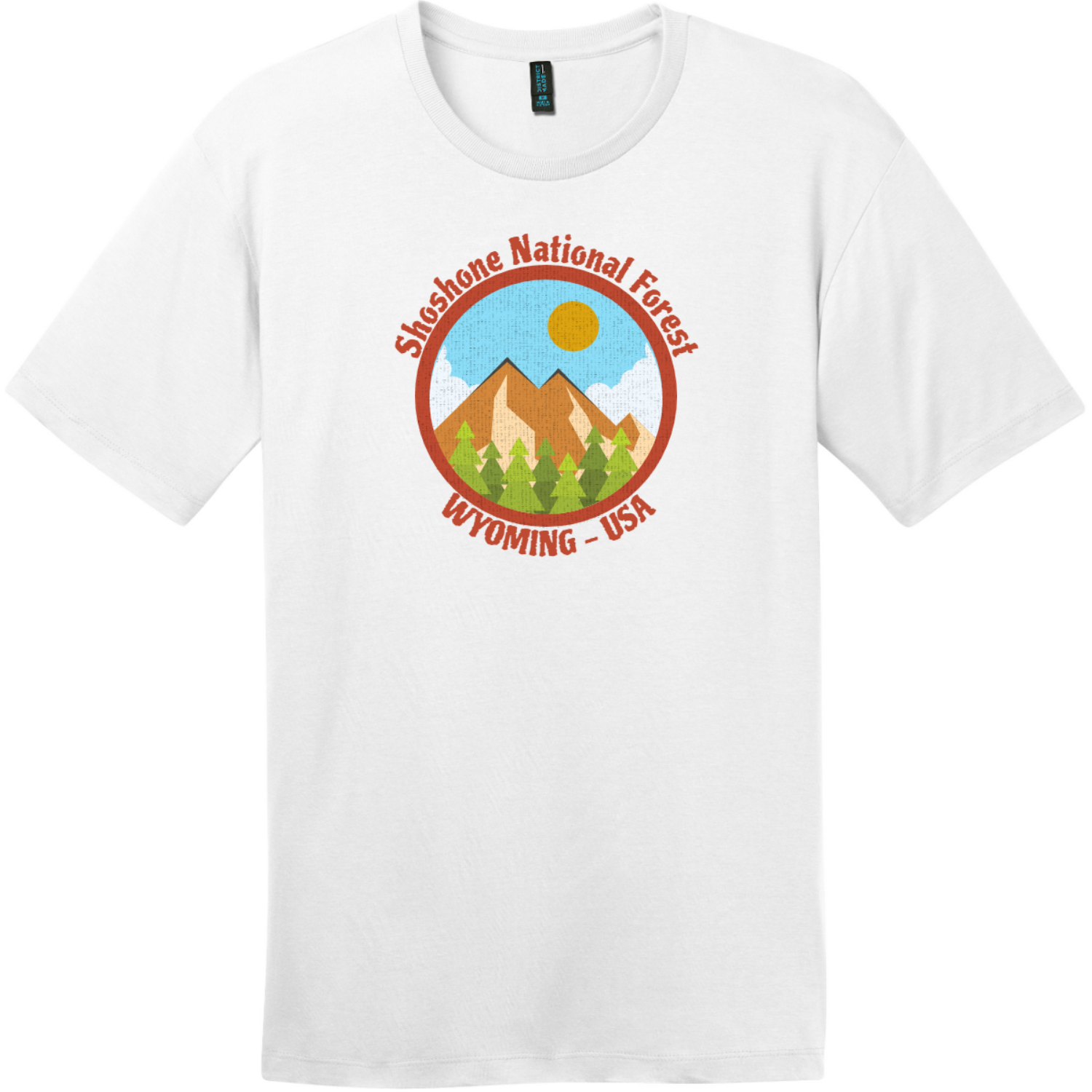 Shoshone National Forest Wyoming T-Shirt Bright White District Perfect Weight Tee DT104