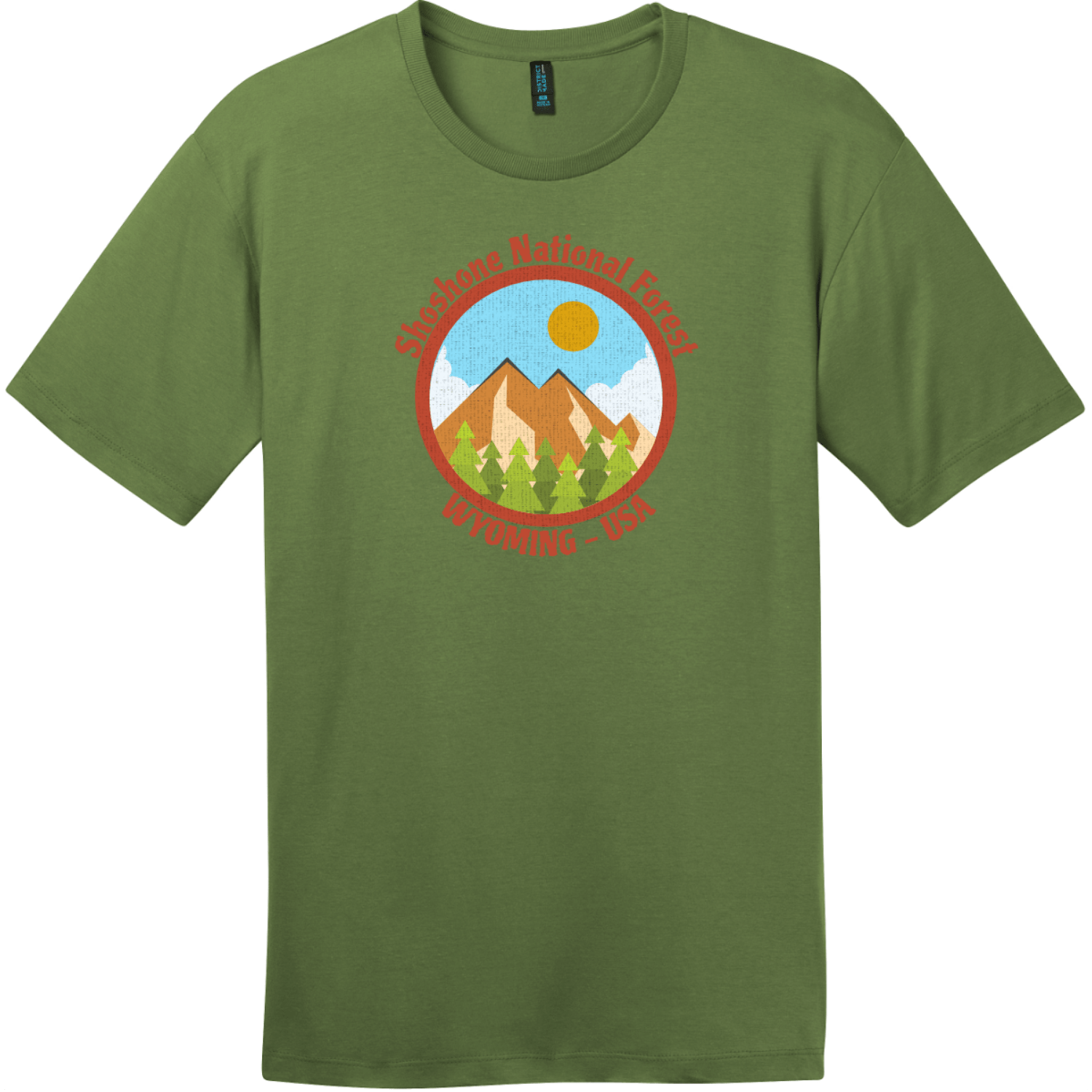 Shoshone National Forest Wyoming T-Shirt Fresh Fatigue District Perfect Weight Tee DT104