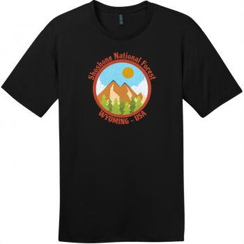 Shoshone National Forest Wyoming T-Shirt Jet Black District Perfect Weight Tee DT104