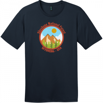 Shoshone National Forest Wyoming T-Shirt New Navy District Perfect Weight Tee DT104