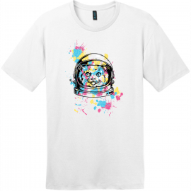 Space Cat T-Shirt Bright White District Perfect Weight Tee DT104