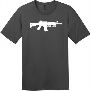 AR-15 Gun T-Shirt Charcoal District Perfect Weight Tee DT104