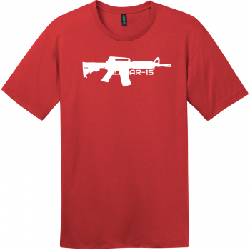 AR-15 Gun T-Shirt Classic Red District Perfect Weight Tee DT104