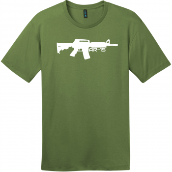 AR-15 Gun T-Shirt Fresh Fatigue District Perfect Weight Tee DT104