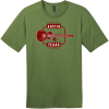 Austin Texas Guitar Live Music Capital T-Shirt Fresh Fatigue District Perfect Weight Tee DT104