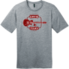 Austin Texas Guitar Live Music Capital T-Shirt Heathered Steel District Perfect Weight Tee DT104