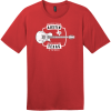 Austin Texas Live Music Capital Guitar T-Shirt Classic Red District Perfect Weight Tee DT104
