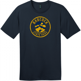Babcock State Park West Virginia T-Shirt New Navy District Perfect Weight Tee DT104