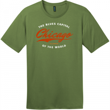 Chicago Illinois Blues Capital Of The World T-Shirt Fresh Fatigue District Perfect Weight Tee DT104