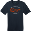 Chicago Illinois Blues Capital Of The World T-Shirt New Navy District Perfect Weight Tee DT104